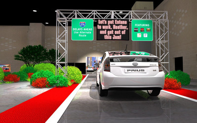 "Toyota's ""Let's Go for a Ride"" Interactive Driving Course to Offer Access to the All-New 2013 RAV4, Avalon, Camry Hybrid, Prius and Venza - Charitable Donations Will Be Made for Everyone Who Participates.  (PRNewsFoto/Toyota Motor Sales, U.S.A., Inc.)"