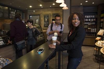 Powermat charging spots at Starbucks San Francisco location
