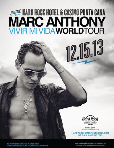 "International Superstar Marc Anthony Brings His ""Vivir Mi Vida"" World Tour To Hard Rock Hotel & Casino ..."