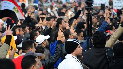 "Scene from documentary ""From Queens to Cairo""; image courtesy of Sherif Sadek.  (PRNewsFoto/Akhnaton Films, Sherif Sadek)"