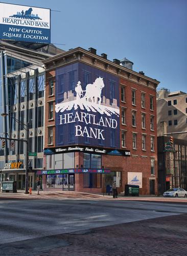 Heartland Bank New Capitol Square Location. (PRNewsFoto/Heartland BancCorp) (PRNewsFoto/HEARTLAND BANCCORP)