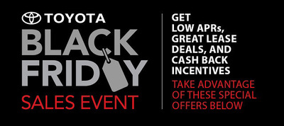 The Toyota of Naperville Black Friday Sales Event starts on Friday, Nov. 29 and runs through Dec. 2. (PRNewsFoto/Toyota of Naperville)