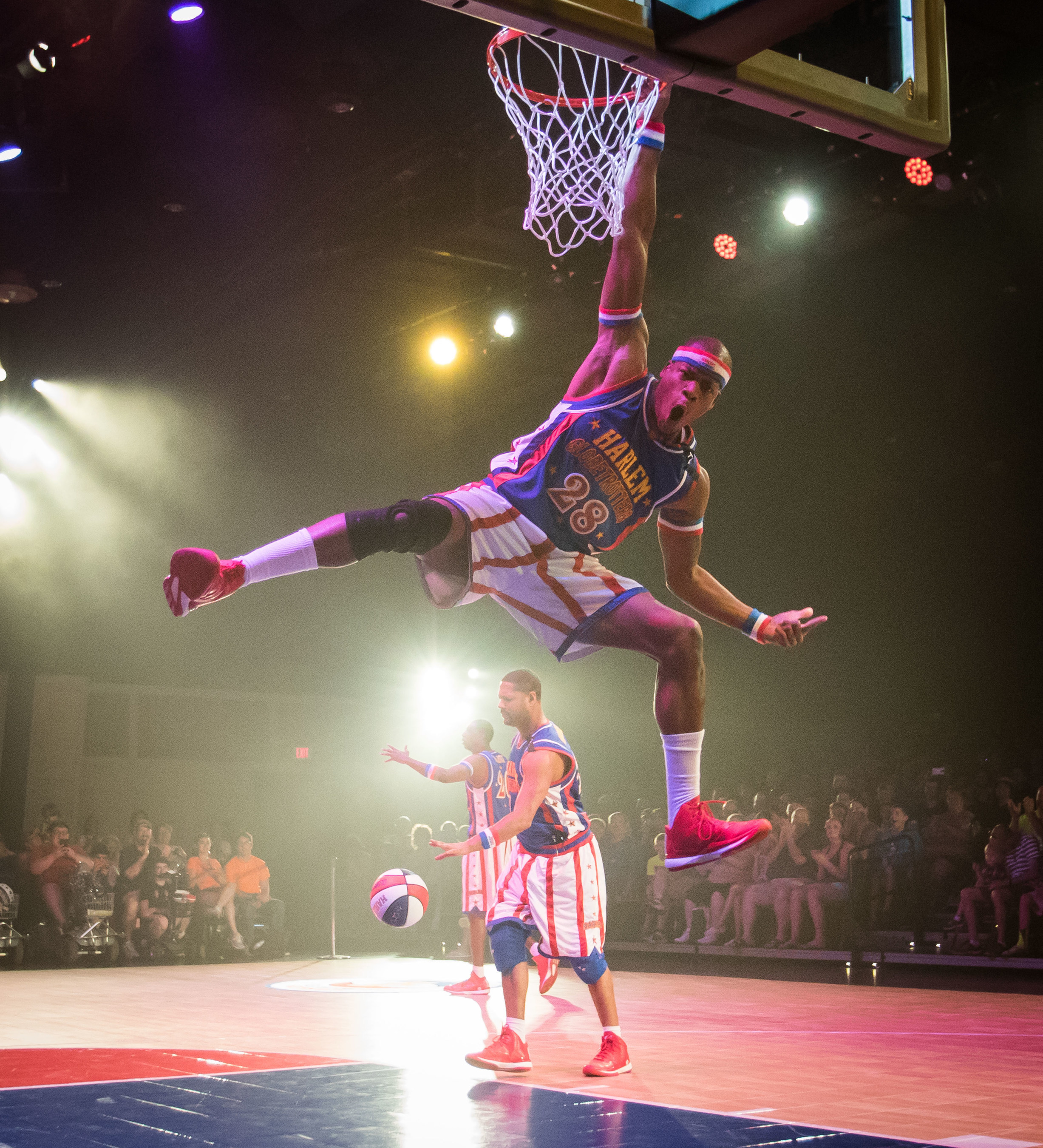The Harlem Globetrotters demonstrate their trademark basketball wizardry in The Globetrotter Experience, as they tip off their six-week, first-ever extended run at Silver Dollar City in Branson, Missouri.