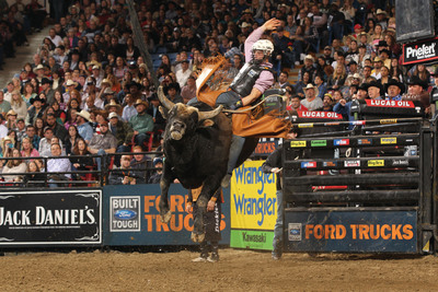 PEAK's BlueDEF(R) Diesel Exhaust Fluid teams up with the Professional Bull Riders as Velocity Tour title sponsor. (PRNewsFoto/Old World Industries) (PRNewsFoto/OLD WORLD INDUSTRIES)