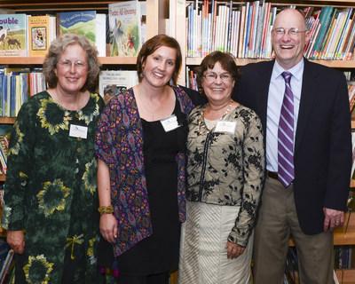 2016 Indiana Authors Award Winners include (left to right) April Pulley Sayre (Genre Excellence Author Winner - Children's Picture Books), Sarah Gerkensmeyer (Emerging Author Winner), Karen Joy Fowler (National Author Winner) and Philip Gulley (Regional Author Winner).
