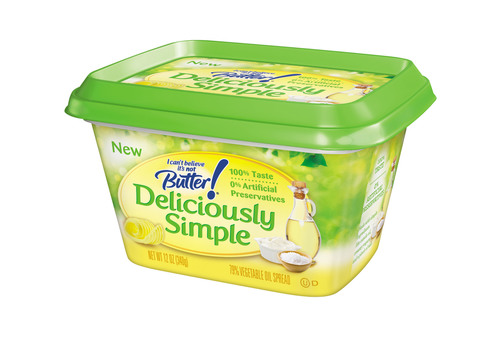 """""""I Can't Believe It's Not Butter!(R) Deliciously Simple(TM) spread from Unilever."""" ..."""