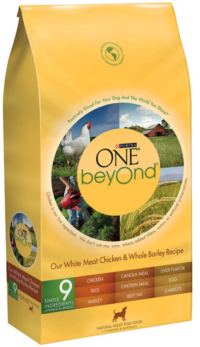 Purina ONE beyOnd Our White Meat Chicken & Whole Barley Recipe Adult Dry Dog Food.  (PRNewsFoto/Nestle Purina PetCare)