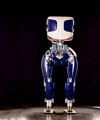 PROXI(TM), a new humanoid robot from SRI International, that can operate up to 20 times more efficiently than current humanoid robotic platforms.