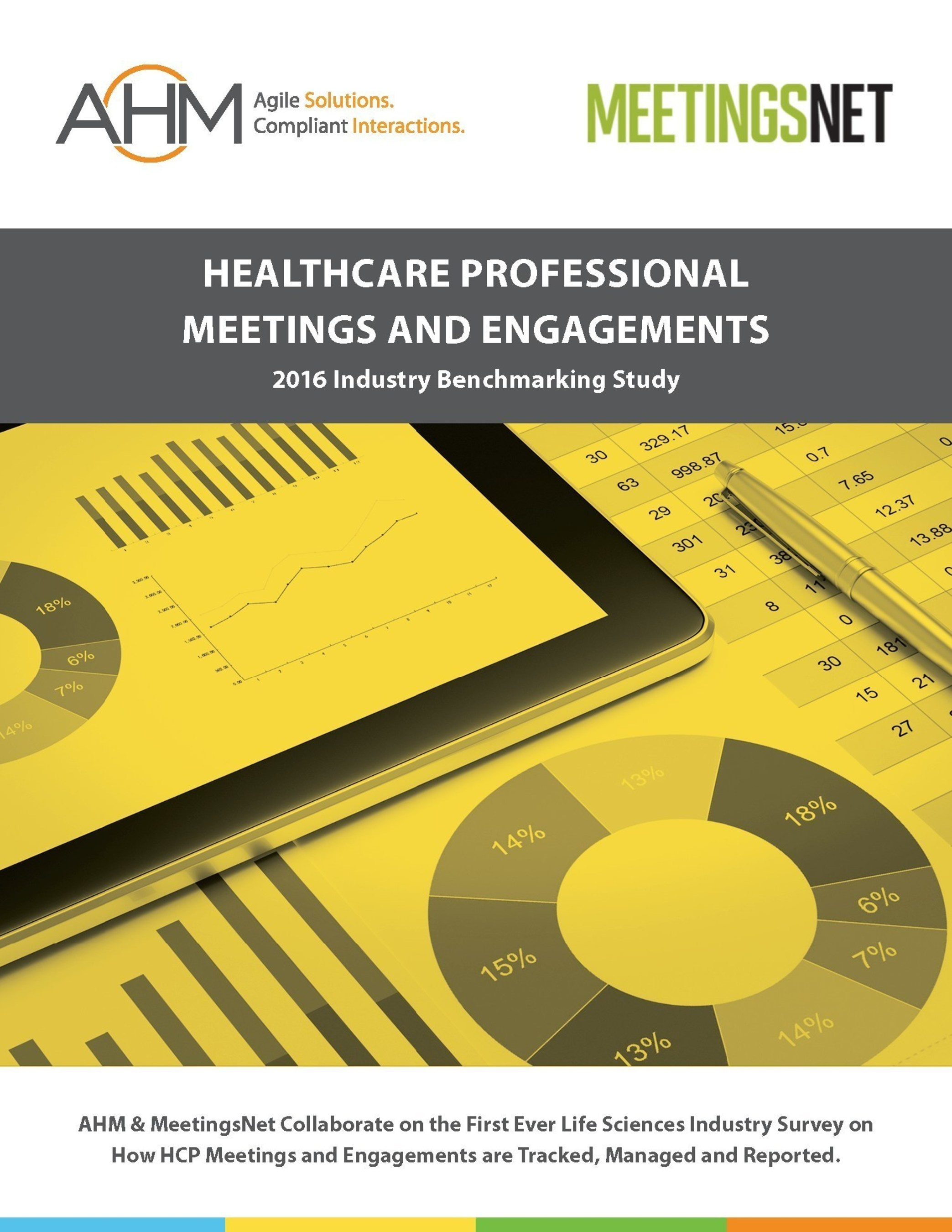 AHM & MeetingsNet Collaborate on the First Ever Life Sciences Industry Survey on How HCP Meetings and Engagements are Tracked, Managed and Reported.