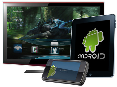 Myriad Alien Dalvik technology enables Android applications to run on all screens, including TV, with the latest release of Myriad Alien Vue.  (PRNewsFoto/Myriad Group AG)