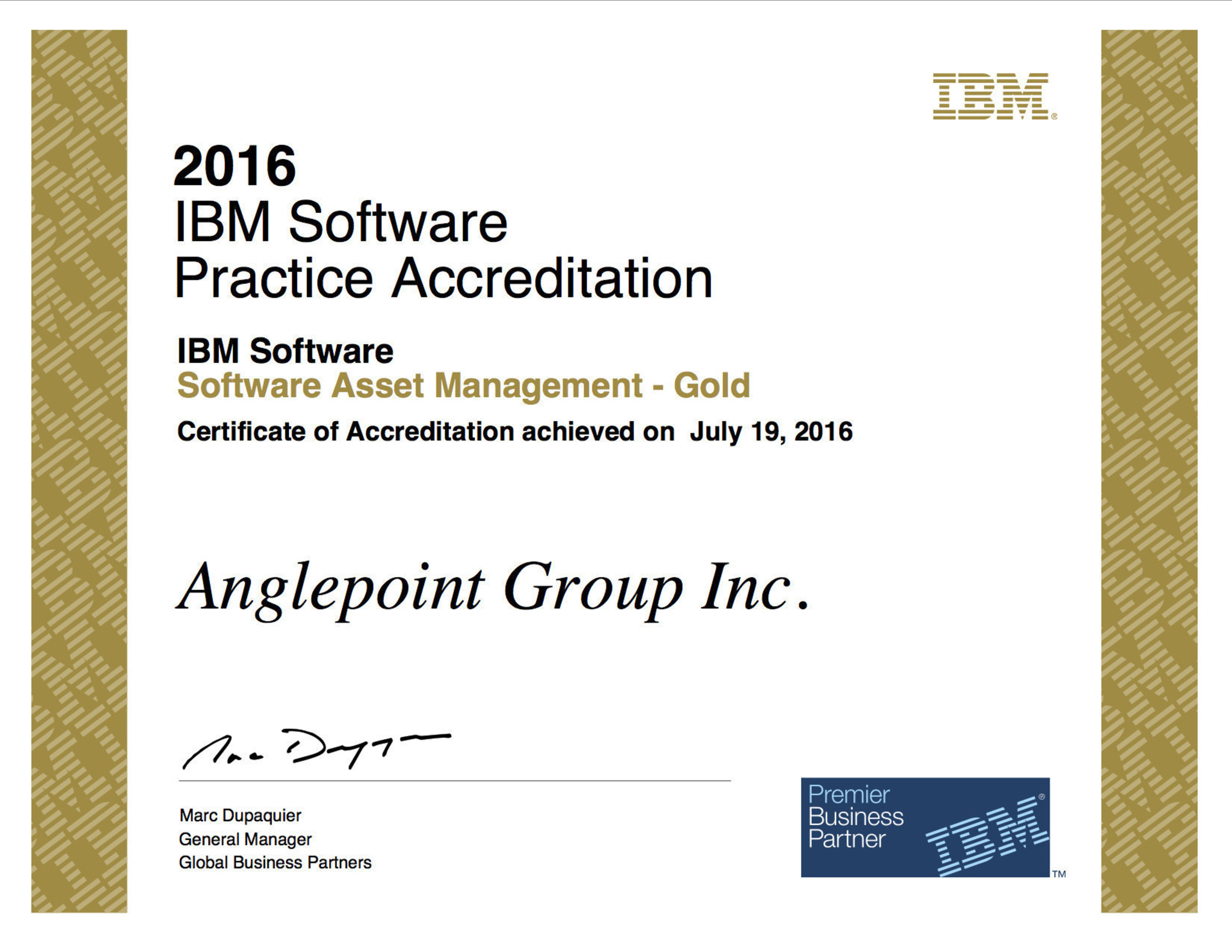 Anglepoint Receives Top Level IBM PartnerWorld Accreditation