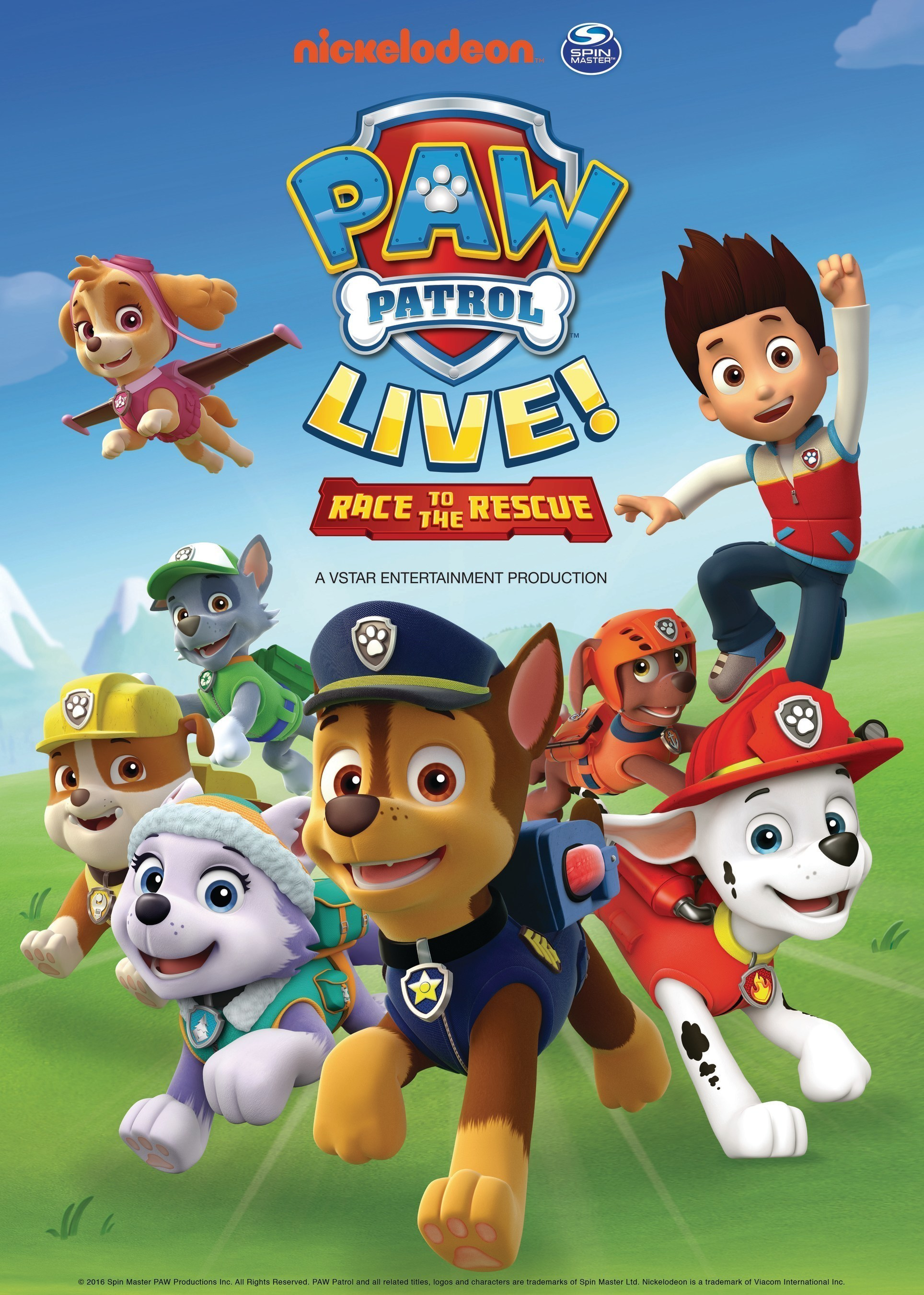 """Tickets go on sale beginning May 20 for the PAW Patrol Live! """"Race to"""