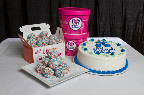 Dunkin' Donuts' Royal Munchkins and Baskin-Robbins' Baby Shower Cake.  (PRNewsFoto/Dunkin' ...