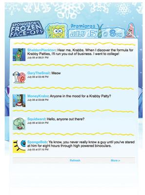 Nickelodeon's SpongeBob SquarePants Breaks New Ground With Exclusive Made-for-Twitter Adventure, July 12-15.  (PRNewsFoto/Nickelodeon)