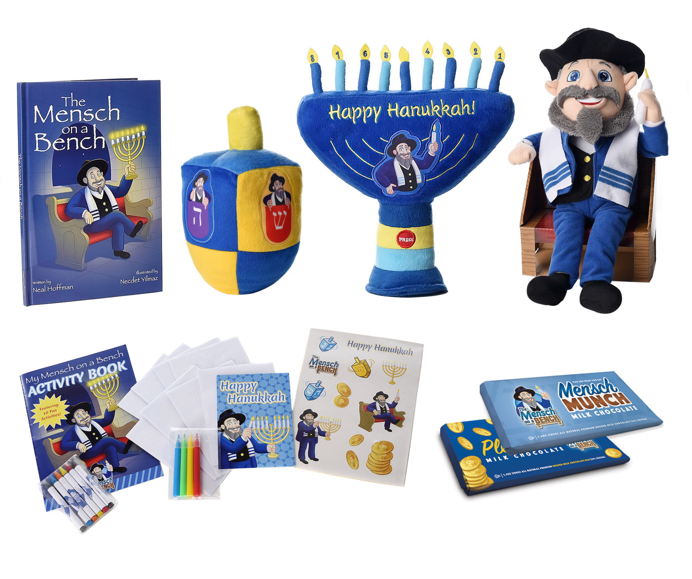 Hanukkah Phenomenom THE MENSCH ON A BENCH Puts More Fun-ukkah In Hanukkah With New Deals And Products