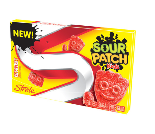 "Stride and Sour Patch Kids bring the iconic ""Sour, then Sweet"" experience to gum.  (PRNewsFoto/Mondelez  ..."