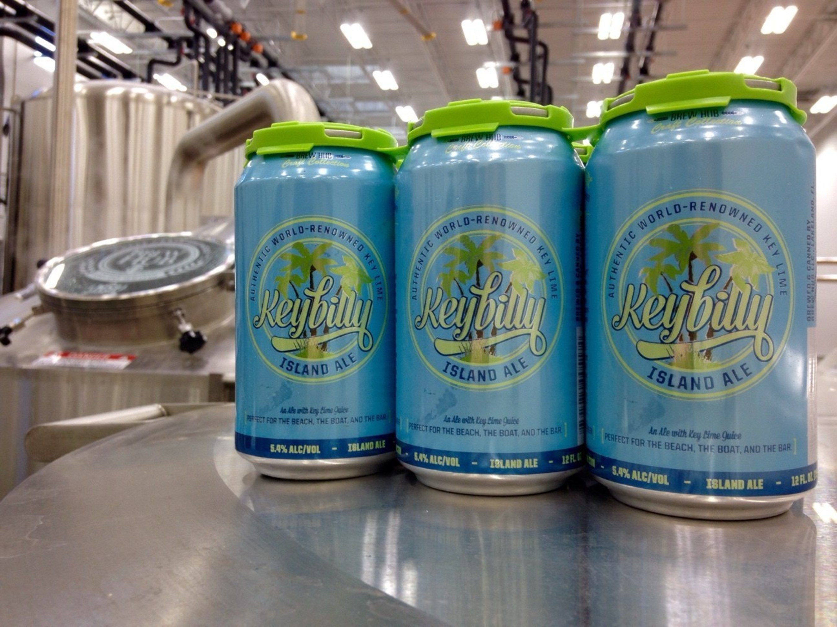 Six-pack of Keybilly Island Ale at Brew Hub in Lakeland, Florida.