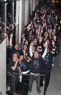 Fans attend the premiere for PARANORMAL ACTIVITY 3, from Paramount Pictures, at the Regal Union Square in New York City on Tuesday, Oct. 18th, 2011.  (PRNewsFoto/Paramount Pictures Corporation, Amanda / Starpix for Paramount Pictures)