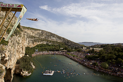 Red Bull Cliff Diving in Athens, Greece on May, 22, 2011.  (PRNewsFoto/Red Bull)