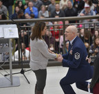 First Sgt. Robert Renning proposed to his girlfriend on stage at the Mall of America Holiday for Heroes event in front of 3,200 military men and women. She said yes. Renning first made national headlines in July 2014 after heroically pulling a stranger from a burning car.
