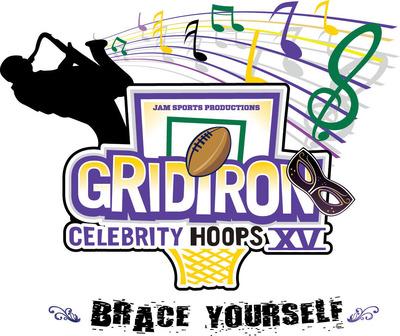 Gridiron Celebrity Hoops XV Logo.  (PRNewsFoto/Jam Sports Productions)