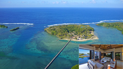 """This exclusive, private island in Fiji offers only 20 residential properties for a select few who seek the """"Fiji Life."""" Wavi Island offers one Signature Villa and 19 buildable lots ready for immediate development. Although previously asking from $1 million to $2.9 million each, the properties will now be sold at a luxury auction conducted by U.S.-based Platinum Luxury Auctions on February 13, 2016. More details at WaviLuxuryAuction.com."""