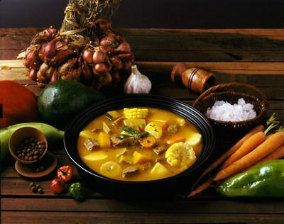 Sancocho, hot soup popular in the mountain regions