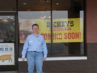 Dickey's franchise owner, Fran Noel, is excited to open her new location tomorrow.  (PRNewsFoto/Dickey's Barbecue)