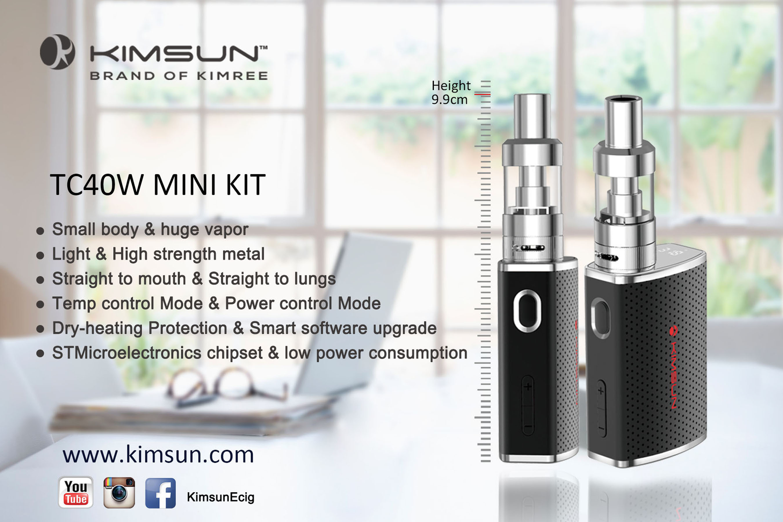 Latest KIMREE's Portable Fashion Vaporizer -- KIMSUN TC40W MINI KIT