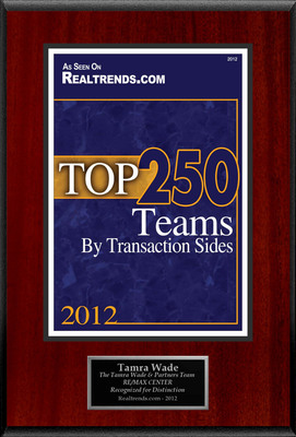"Tamra Wade Selected For ""Top 250 Teams By Transaction Sides"".  (PRNewsFoto/American Registry)"
