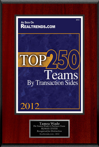 """Tamra Wade Selected For """"Top 250 Teams By Transaction Sides"""".  (PRNewsFoto/American Registry)"""