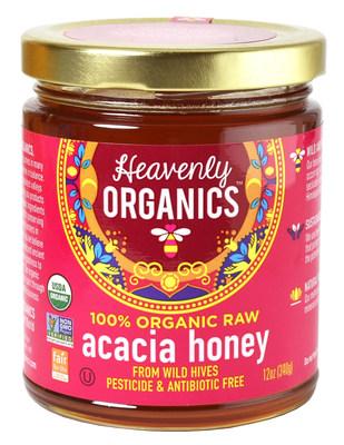 Heavenly Organics 100% Organic, Raw, Pesticide and Antibiotic Free Acacia Honey from Wild Beehives