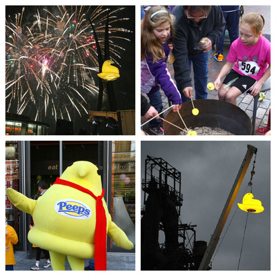 PEEPSFEST(TM) Will Again Offer Magical Memories Including PEEPS(R) Chick Drop! Festival's fourth year packed with family fun on Dec. 30-31 in Bethlehem.  (PRNewsFoto/Just Born, Inc.)