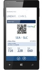 Alaska Airlines' new Windows Phone app enables users to purchase a ticket, track a flight and check-in. The carrier also has native apps for the iPhone and Android devices. (PRNewsFoto/Alaska Airlines)