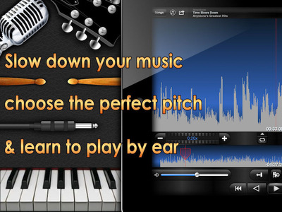 Anytune is the ultimate music practice app for musicians of all kinds. Slow down music, choose the perfect pitch and learn to play by ear. Music Practice Perfected.  (PRNewsFoto/Anystone Technologies, Inc.)