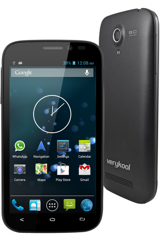 InfoSonics' verykool(R) s450 OnyxTM is powered by a 1.2 GHz dual core processor and Android 4.2 (Jelly ...