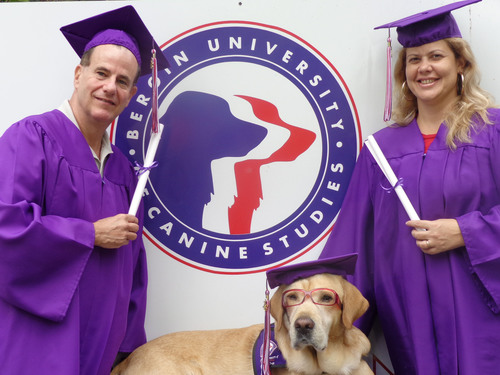 "Accredited Bergin University of Canine Studies... Where dogs celebrate their ""Master's"" degree!!!  (PRNewsFoto/Bergin University of Canine Studies)"