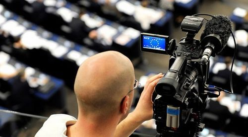 """The EUROVISION debates will be filmed live in the European Parliament, in Brussels. Editorial use of this picture is free of charge. Please quote the source: """"obs/EUROPEAN BROADCASTING UNION (EBU)"""" (PRNewsFoto/EUROPEAN BROADCASTING UNION)"""