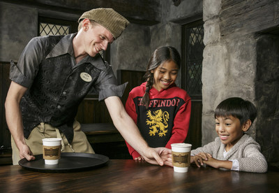 """The Wizarding World of Harry Potter"" at Universal Studios Hollywood Adds Hot Butterbeer to its Menu of Scrumptious Fare Served at Three Broomsticks and Hog's Head Pub"