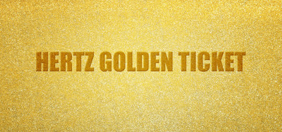 Hertz is giving away its Golden Tickets in Europe, offering its customers the chance to win exciting prizes during the month of October. (PRNewsFoto/The Hertz Corporation)