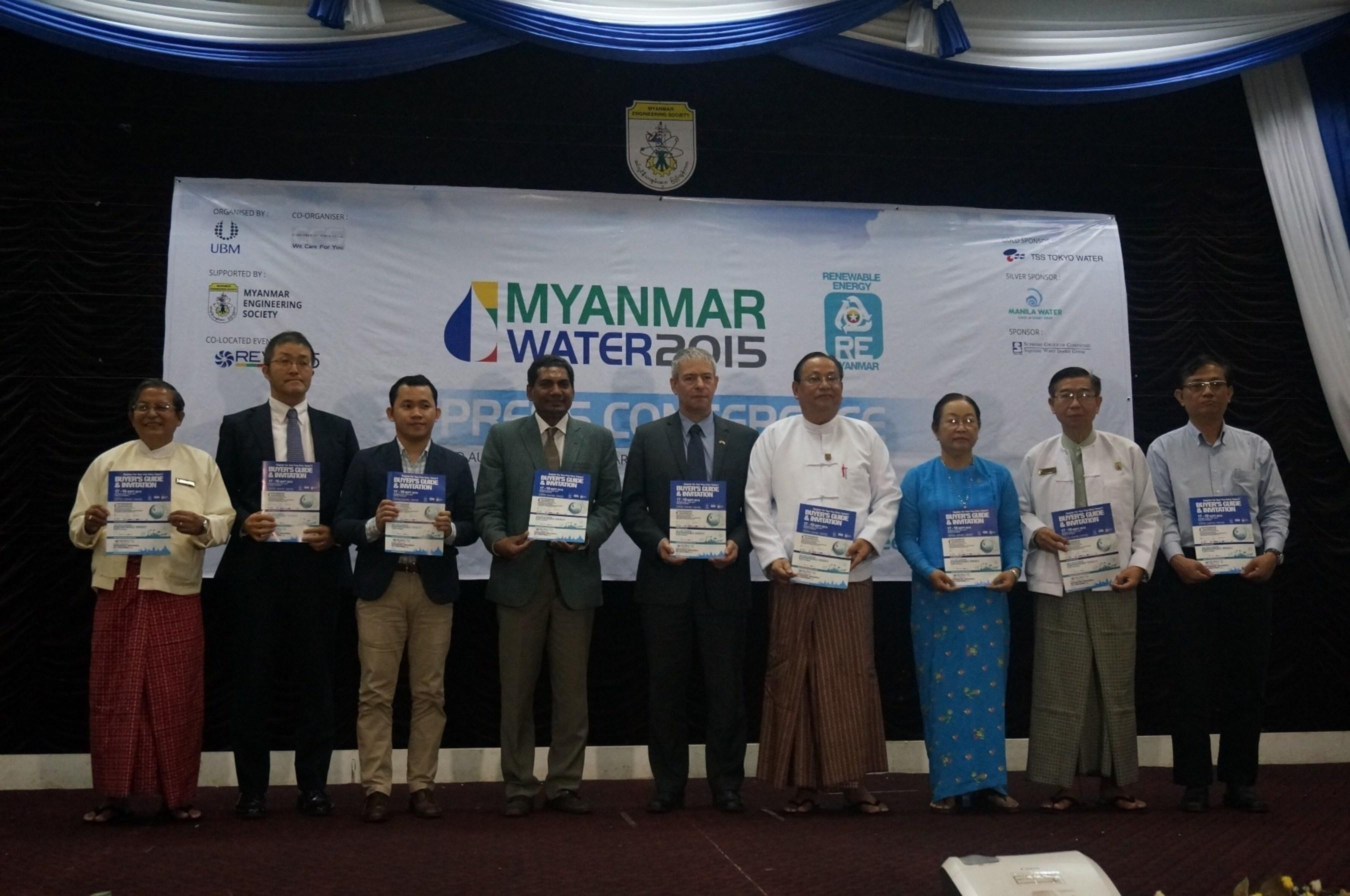 (from left) U. Khin Maung Htaey, MES; Dr. Katsuyuki Kadota, Oji Holdings Corporation; Mr. Michael Rico, Manila ...