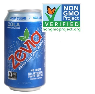 Zevia Soda Receives Non-GMO Project Verification and Goes Color Free