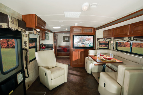 The interior of the new 2012 Winnebago Sightseer 30A.  Photo courtesy of Winnebago Industries, Inc.  (PRNewsFoto/Winnebago Industries, Inc.)