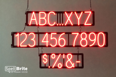 "The SpellBrite(TM) ""click-together"" LED signage system combines the striking impact of neon with the flexibility of print.  (PRNewsFoto/iLight Technologies)"