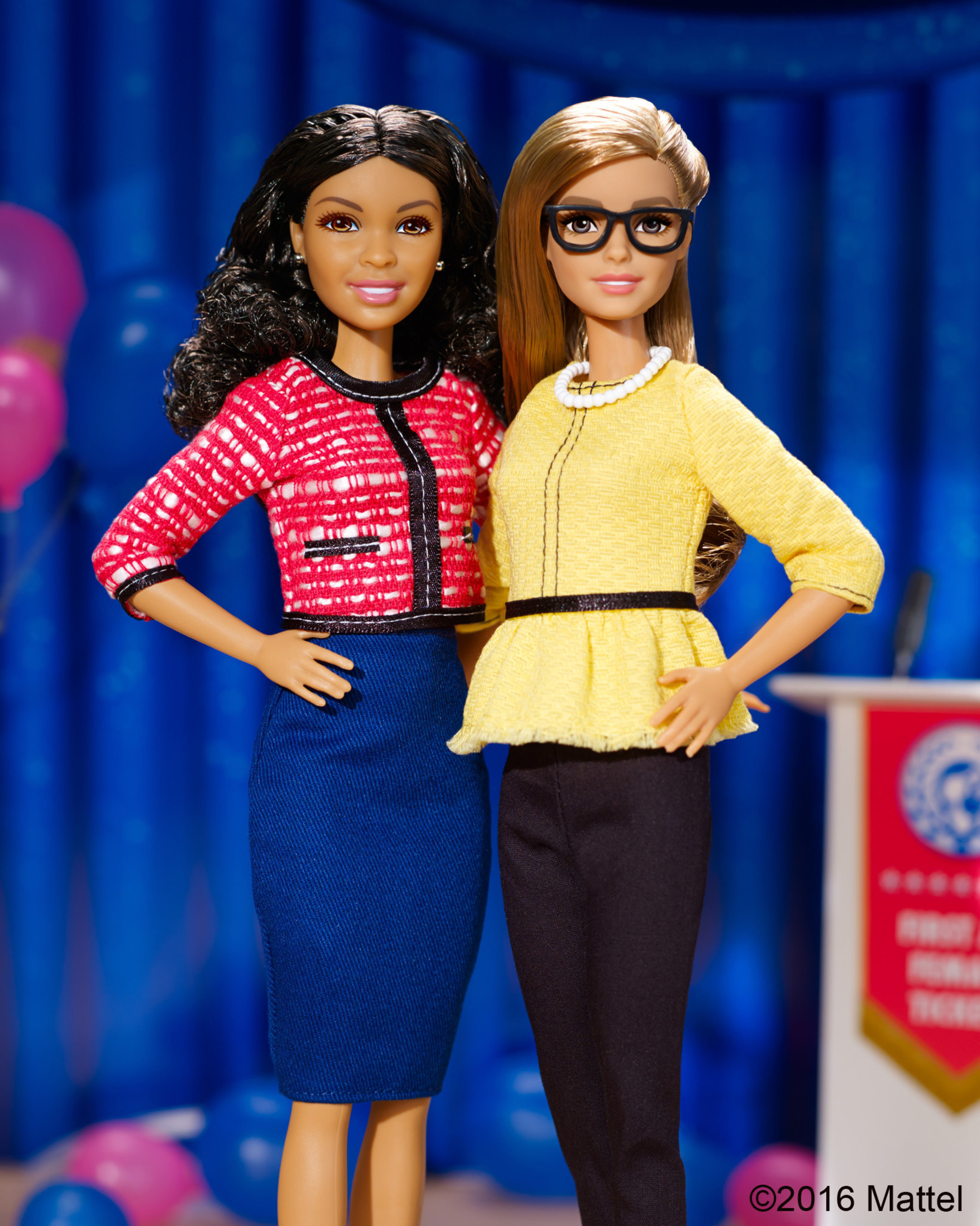 To inspire girls to become leaders, Barbie(R) is introducing new President and Vice President Barbie(R) dolls, because when a girl plays with Barbie she imagines everything she can become. The dolls represent Barbie's first all-female ticket and are part of the careers line, which aims to expose girls to inspiring careers and empowered roles.