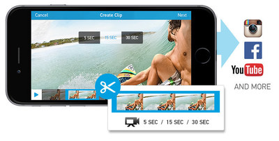 GoPro Releases New Trim and Share Feature for App and Wi-Fi enabled HERO Cameras