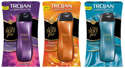 Trojan(TM) Lubricants come in three toe-curling varieties and are sure to bring a crazy, sexy feel to any bedroom.  (PRNewsFoto/TROJAN(TM) Lubricants)