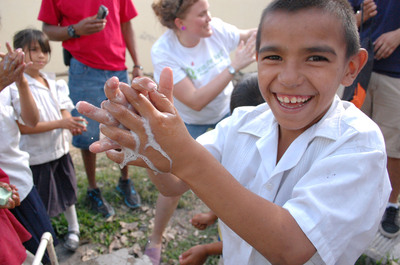 Global hospitality leader Marriott International has become an official hotel partner of Clean the World, a non-profit that collects, recycles and distributes discarded soaps and other hygiene amenities to communities in need.  (PRNewsFoto/Marriott International, Inc.)