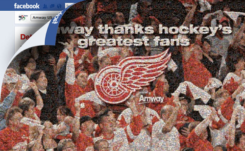 Amway's Detroit Red Wings Sponsorship Gets Social