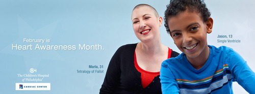 The Children's Hospital of Philadelphia celebrates Heart Awareness Month. One in 120 babies is born each ...